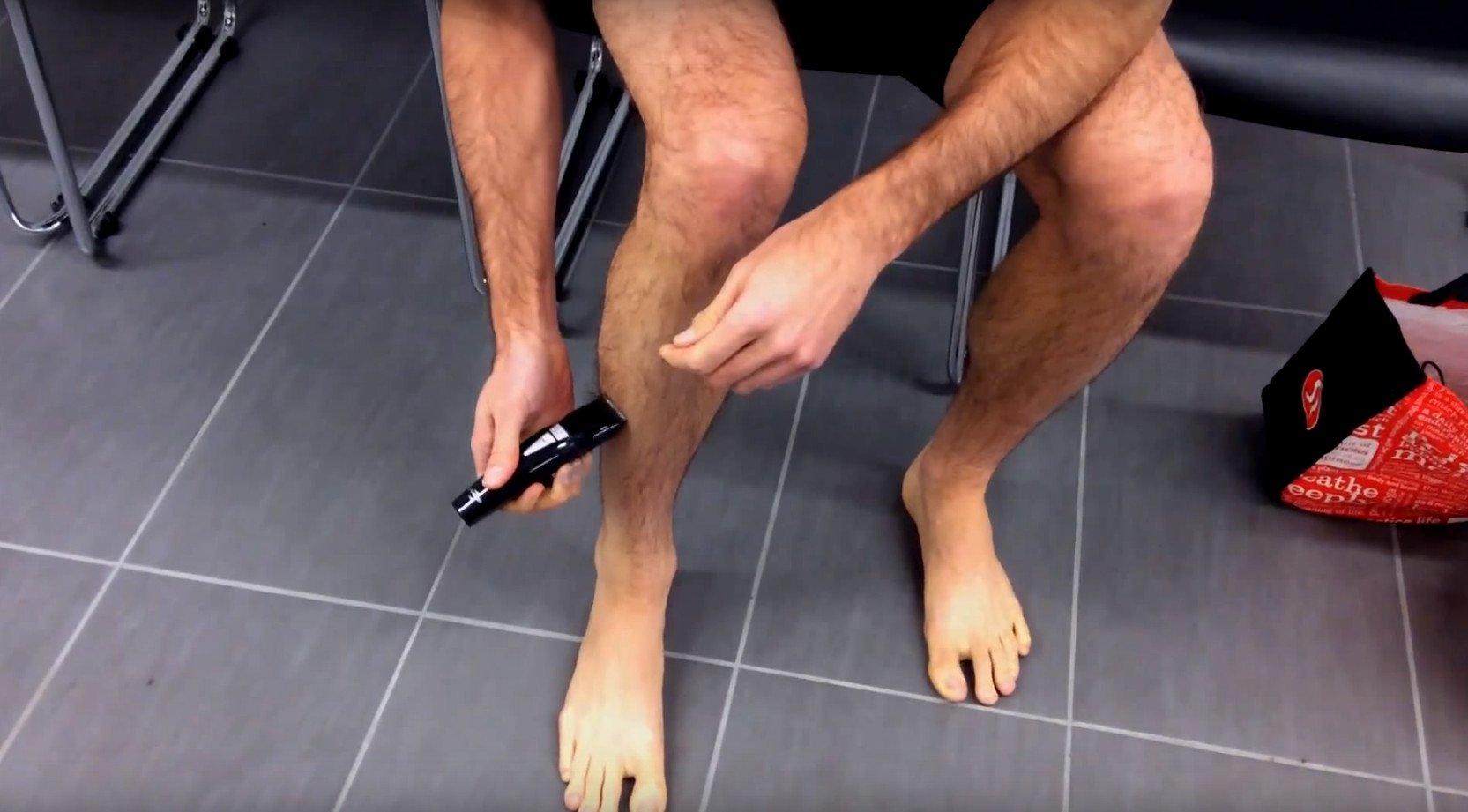 Piernas depiladas ciclismo