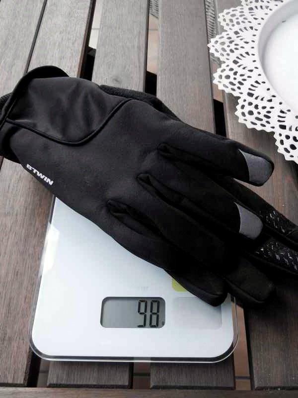 Guantes bici invierno decathlon 500 peso