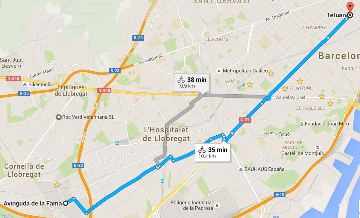 Review Google Maps Bicicleta para España