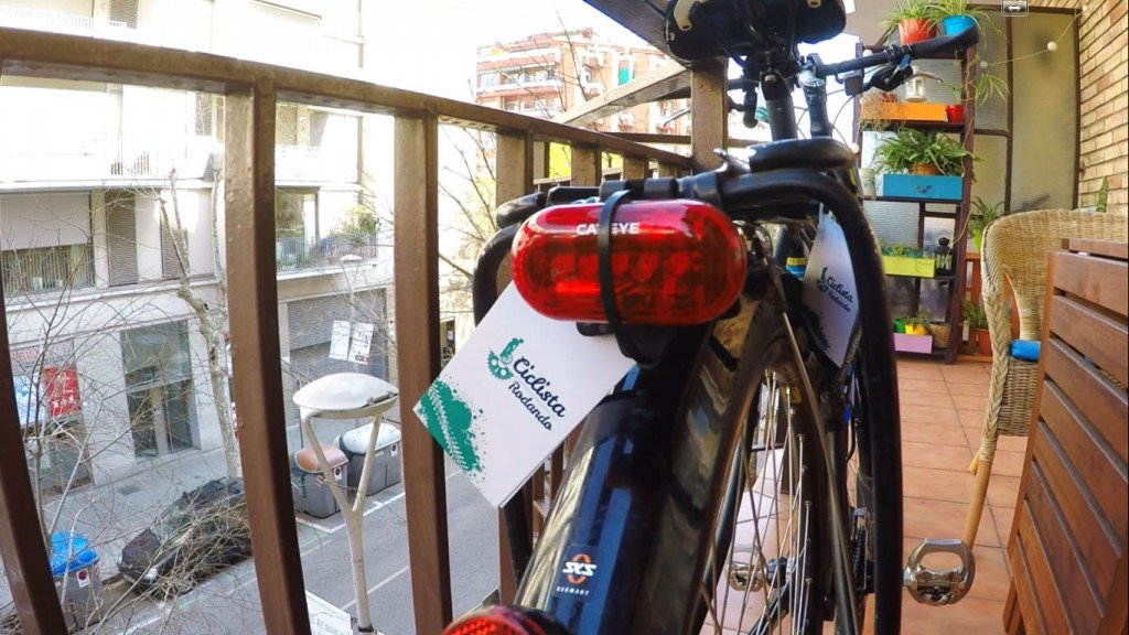 evitar roben luz bicicleta DIY Cateye