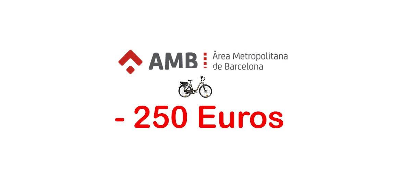 Subvenciones AMB bicicleta eléctricas de 250 euros