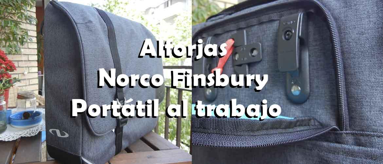 Alforja Norco Finsbury tu portátil en bici