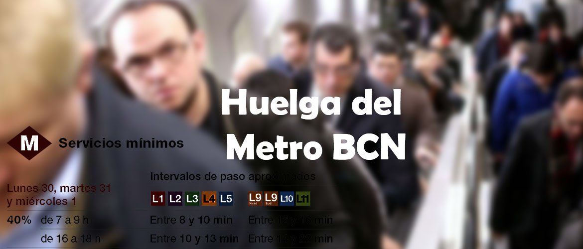 Huelga de metro Barcelona Alternativa