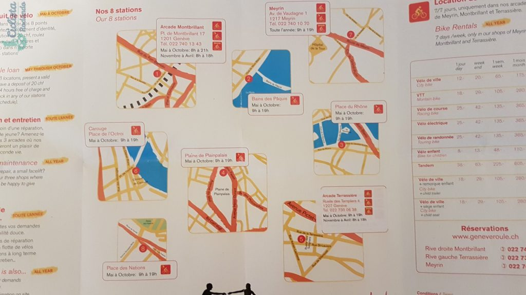 Ginebra en bicicleta gratis