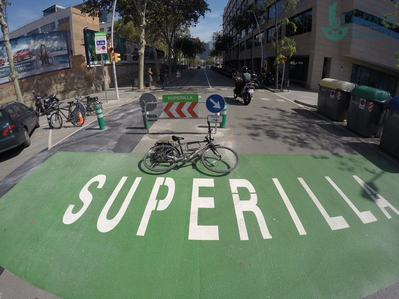 Superilla Supermanzana barcelona bicicletas