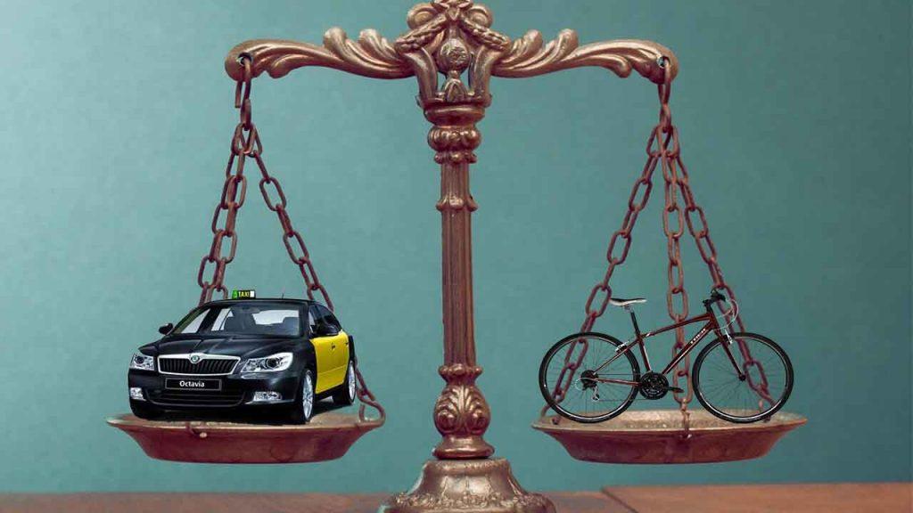 taxistas bicicletas juicio