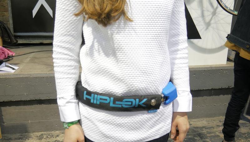 hiplok cadena bicicleta cintura chica