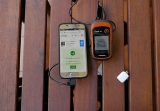 Transferir Track del móvil al GPS portada