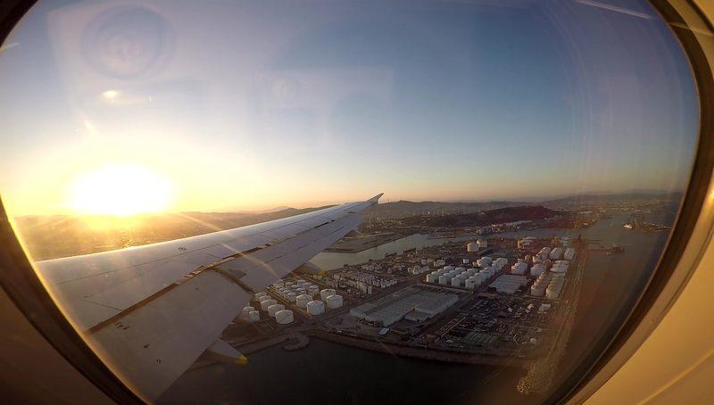 Botellín de agua en el avión – Truco