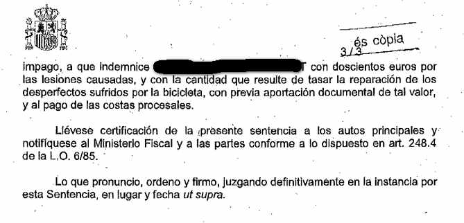 Resolucion juicio ciclista 2