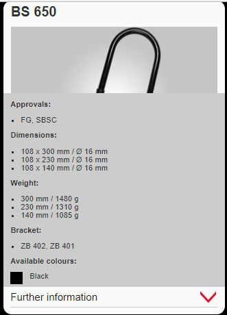 bs 650 TRELOCK caracteristicas