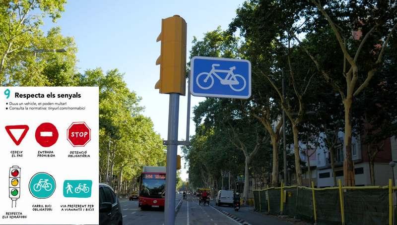 obligatoriedad carril bici barcelona