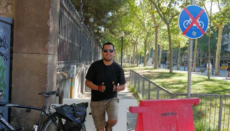 primer carril bici de Barcelona 3