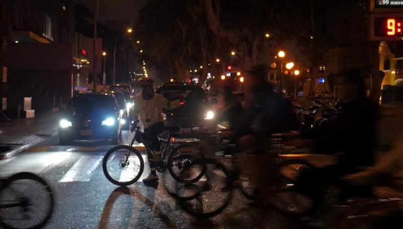 Masa Crítica Lima Perú corte de calles