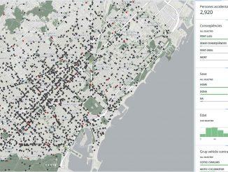 mapa accidentes barcelona portada