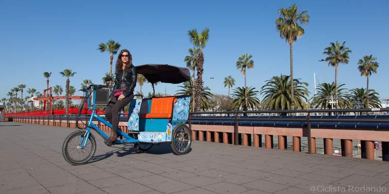 Licencia cargo bike Rickshaw Barcelona 7