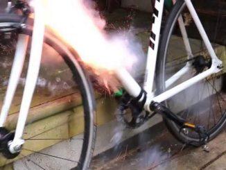 bike mine explosion