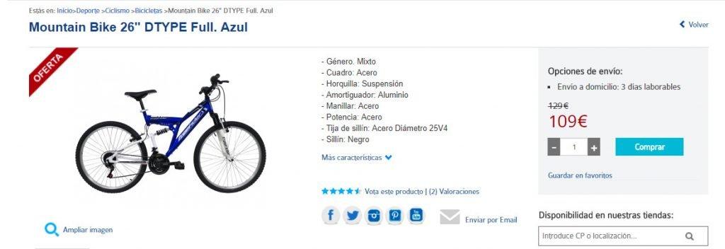 bicicleta doble barata mala