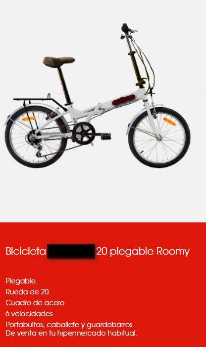 bicicletas muy baratas plegables