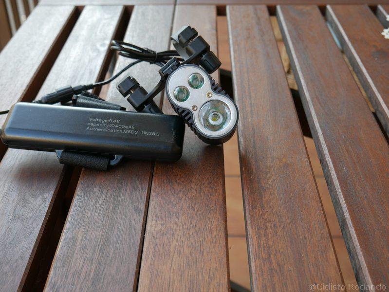 2 en 1 Luz de bicicleta y Power Bank GVDV