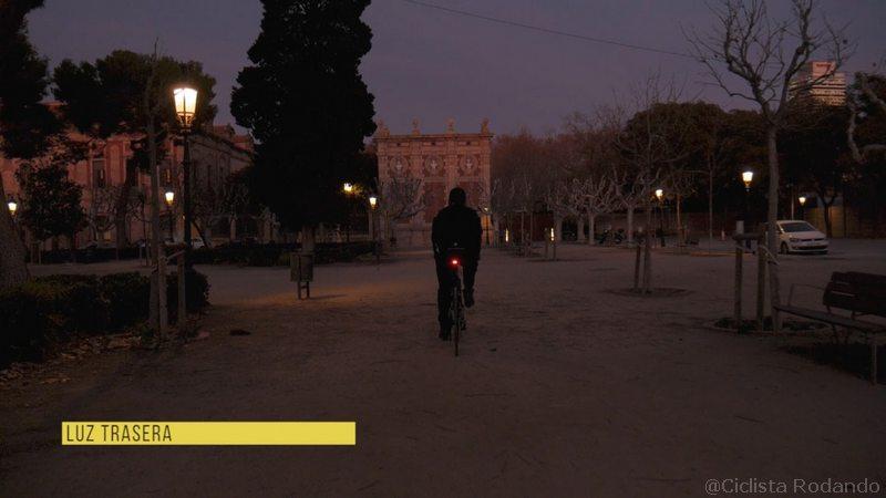 luz para bicicleta con alarma