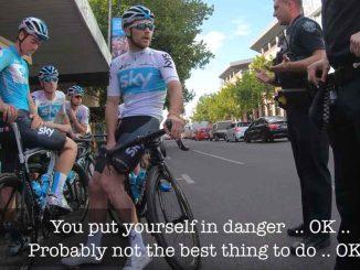 Team Sky es multada por la policía en Australia