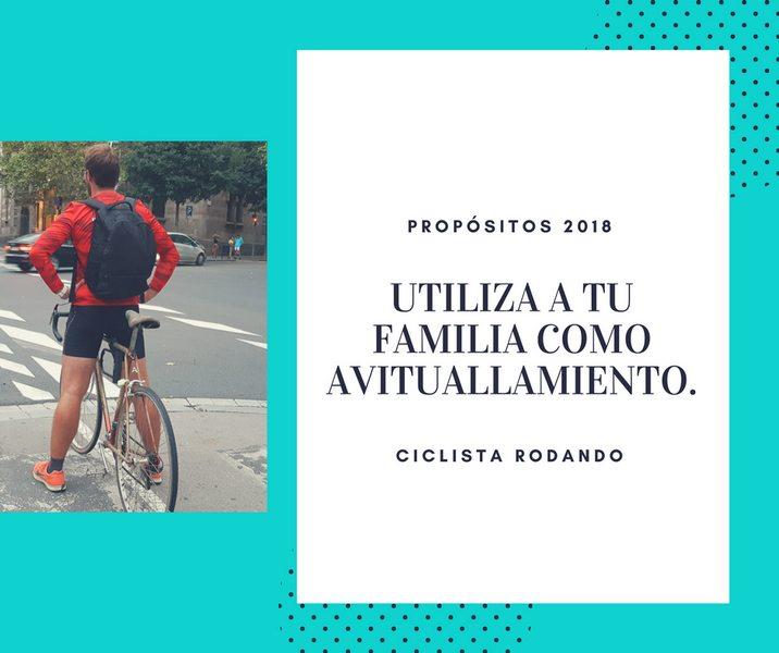 utiliza a tu familia para ir en bicicleta