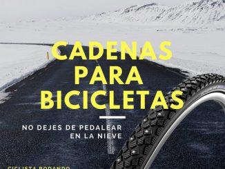 Cadenas para bicicleta para nieve