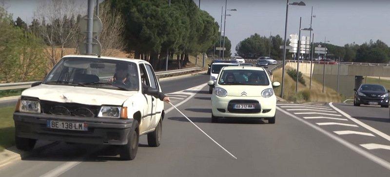 coche ciego manejando