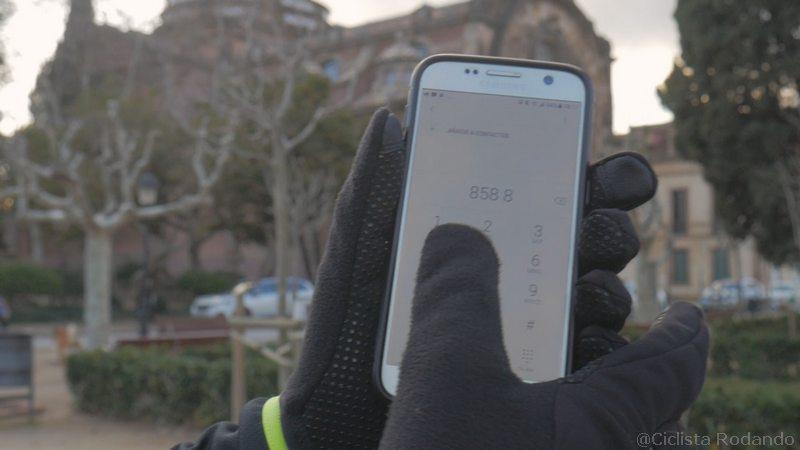 guantes bicicleta movil funcionen
