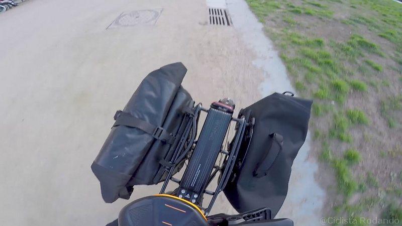 alforjas Ortlieb con rack bicicleta