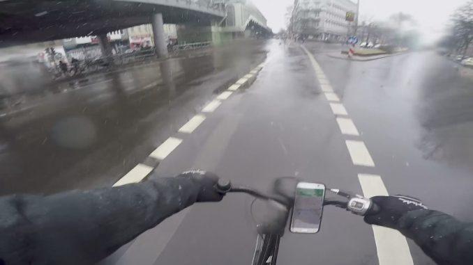 Bicicleta lluvia Berlin
