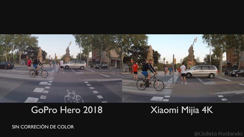 Gopro Hero 2018 Vs Xiaomi Mijia 4K comparativa 18