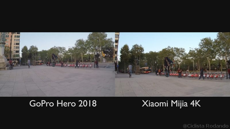 Gopro Hero 2018 Vs Xiaomi Mijia 4K comparativa calidad video