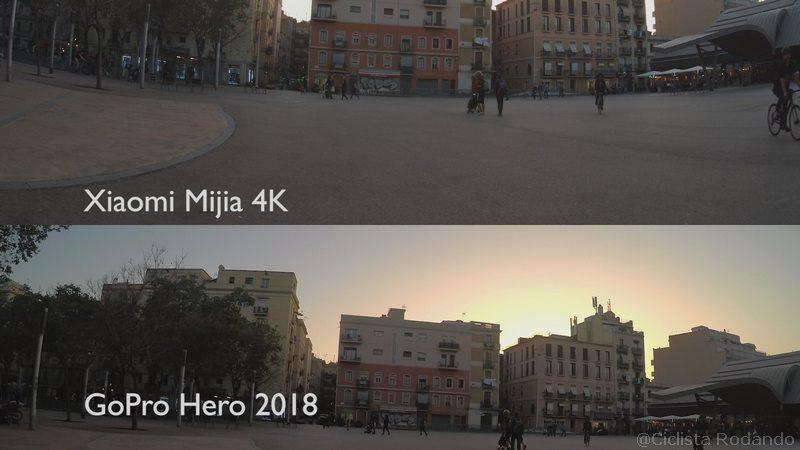 foto gopro 2018 vs mijia 4k