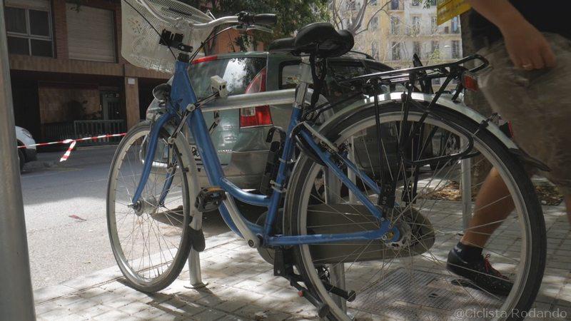 antirrobo cuadro y flexible abus bicicleta chica azul