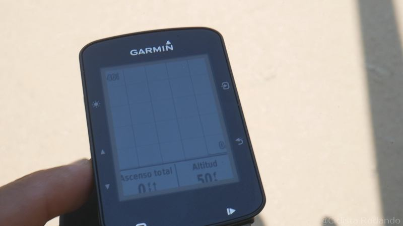 Garmin Edge 520 Plus Review español altimetria