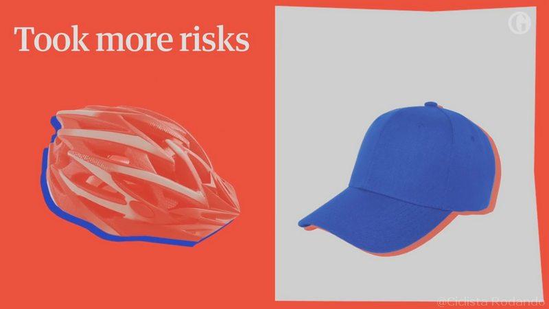tomamos mas riesgos al llevar casco