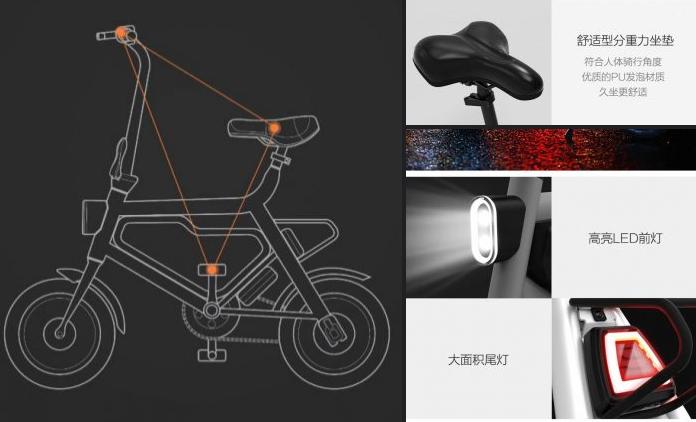 luces delanteras y traseras xiaomi bicicleta plegable
