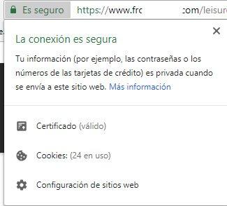 web falsa con https