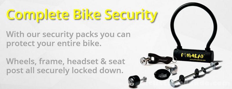 sistema PinHead llaves codificadas bicicleta