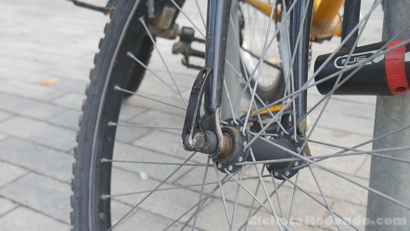 cierre rapido bicicleta
