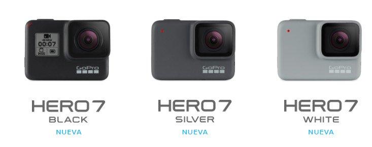 Gopro hero 7 modelos comparativa