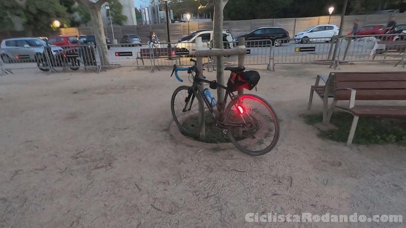 visibilidad 360 luz bicicleta