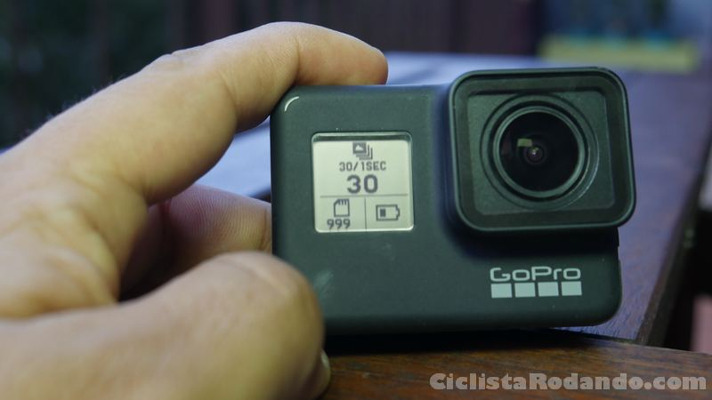 gopro hero 7 black pantalla frontal