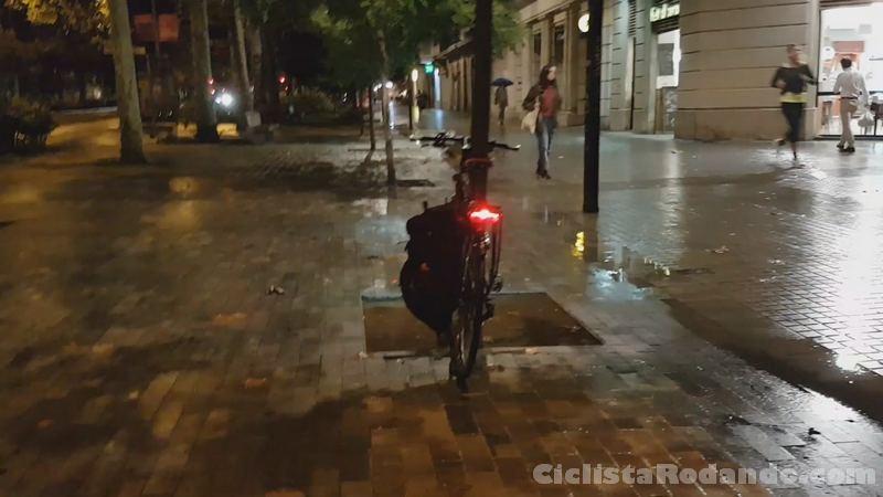 Luces bicicleta trelock trio antirrobo calle