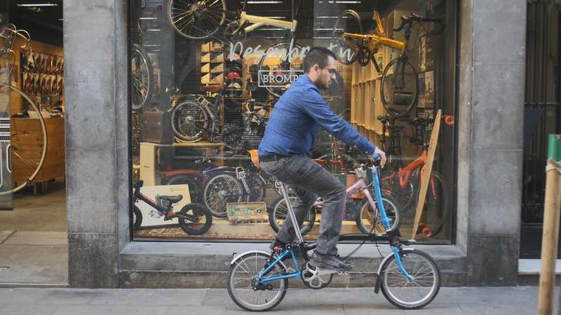 manillar s alto bicicleta brompton