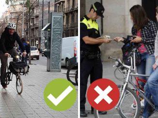 barcelona prohíbe bicicletas acera