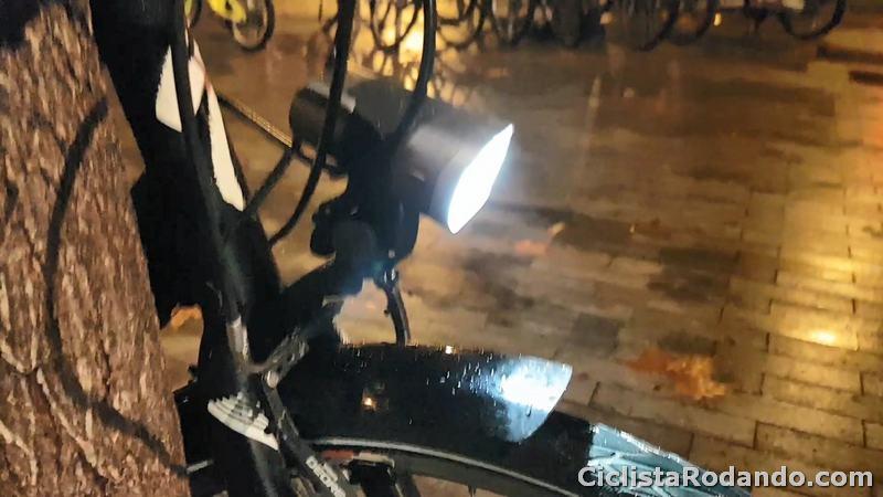 spaninnga axendo 60 luz bicicleta ciudad