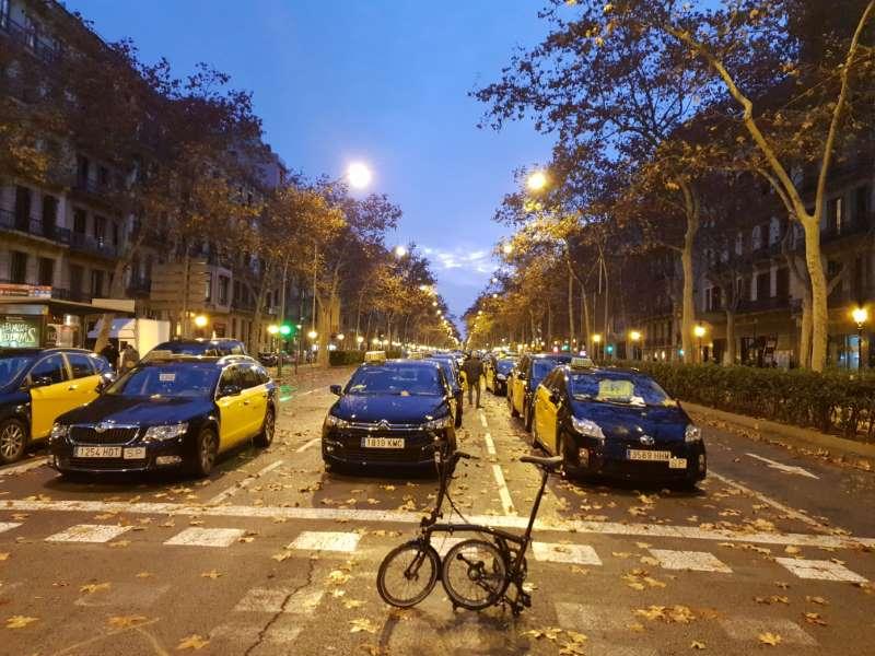 protesta taxis barcelona 2019